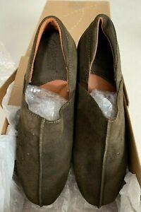 NIB Sergio Tomani Women's Canaza Leather Clog Verde Olive Green 37 EU 6.5 US