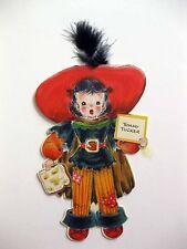 1947 Hallmark Paper Doll Card Land of Make Believe Tommy Tucker A Mint! *