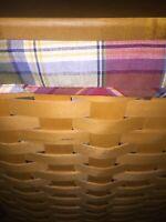 Longaberger Paprika  Plaid CORNER HAMPER Basket Liner ~
