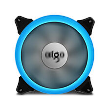1pcs Aigo  Ice Blue Halo LED 140mm PC Computer Case Cooling Neon Clear Fan Mod