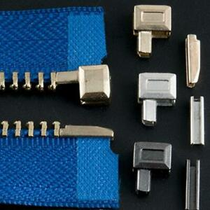 10Sets Metal Zipper Repair Stopper Open End Tailor Tool UK Craft Sewing B2V4