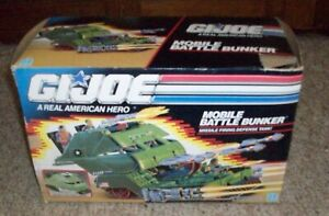 G.I. Joe Mobile Battle Bunker, 1989, Hasbro, with Box, Pre-Owned