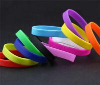Custom Sports Unisex Rubber Silicone Wristbands Bracelets Bangle Cuff Bands