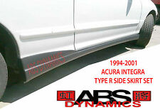 1994 2001 Acura Integra DC2 ITR Type R Style Side Skirt SET (Black Unpainted PP)