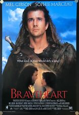 (2) Braveheart 1995 Original Movie Posters Double Sided Int. Version A and C