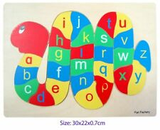 Fun Factory Wooden Alphabet Snake Educational Puzzle