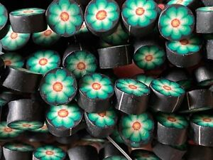 NEW 100 pieces Polymer Clay 11 mm Disc Beads