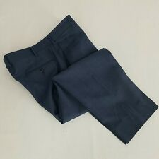 RECENT Zanella Blue Parker Flat Front Wool Dress Pants - 35 (35x28)