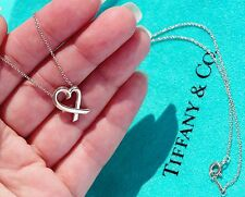 TIFFANY & Co PALOMA PICASSO ARGENT STERLING amoureux Collier pendentif en coeur