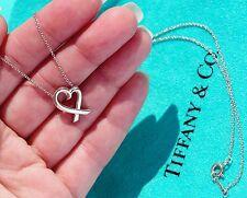 Tiffany & Co Paloma Picasso Argento Sterling Collana con ciondolo a forma di cuore Amorevole