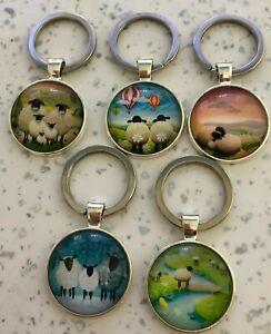 Handmade sheep key ring key chain keyring fob bag charm cartoon cute couple