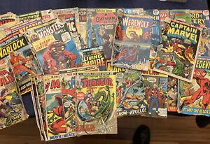 MARVEL  DC Comic Book LOT - Low Grade