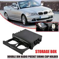 Auto KFZ Universal 2-DIN Ablagefach Aufbewahrung Getränkehalter Becherhalter AM