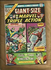 Giant-Size Marvel Triple Action #2 vg- 1975 ND reprints Avengers Marvel Comics