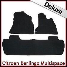 CITROEN BERLINGO MULTISPACE 2008 Onwards Ajusté Lux 1300 G VOITURE /& Tapis de coffre gris