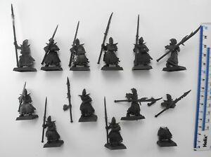 12 DARK ELF SPEARMEN Plastic Elves Aelf Aelves Army Warriors Warhammer 87