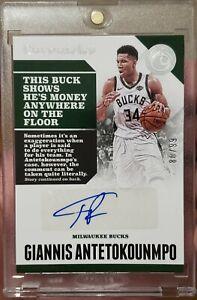 2017-18 Panini Chronicles Giannis Antetokounmpo Autograph Auto 80/99 Bucks MVP