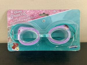 NEW Swimways Disney Princess Swim Goggles Kids 3+ Ariel Little Mermaid
