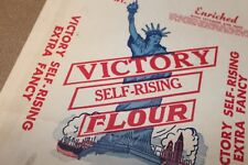 Vintage 50s 5 lb Flour Bag Sack Unused Victory Self Rising Flour Purdy VA
