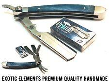 High Quality Pro Hand Made Hair Straight Edge Barber Shaving Razor Free Blade