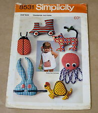 SIMPLICITY SOFT TOY CRAFT SEWING PATTERN 8531