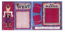 KC - Best in the West Cowboy - 2 page Scrapbook Kit - Scrapbooking