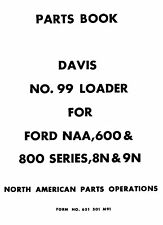Davis 99 Front Loader for FORD NAA 8N 9N Parts manual