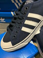 Adidas Nizza Low UK 11 46 Navy Blue Canvas CW New Basketball Shoes Lo Americana