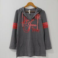 Lorna Jane Pullover Hoodie Jumper Size L Grey Long Sleeve Good Condition