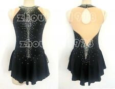 Competition Figure Skating Dress Girls Ice Skating Dresses Custom Spandex black