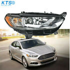 Halogen Headlight Lamp Fit For 2013-2016 Ford Fusion Chrome Housing Right Side