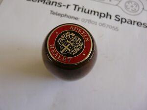 Austin Healey Enamel badged wooden gear-knob