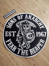 Sons Of Anarchy Fear The Reaper Round Jacket Patch Biker Gang FX TV Show