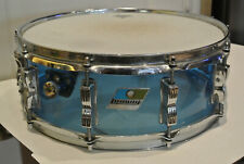 "1970's LUDWIG 14"" BLUE VISTALITE SNARE DRUM for YOUR DRUM SET! LOT #F276"