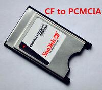 2X SanDisk Compact Flash I CF 50pin to ATA PC Card PCMCIA 68pin PC card adapter