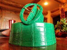 Polo Ralph Lauren Wide Green Alligator Belt (Medium)