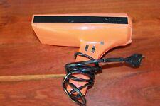 Moulinex Seche-cheveux ancien, vintage orange en état de marche 700W