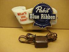 Vintage Pabst Blue Ribbon Lighted Cash Register Sign - Original