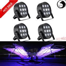 4PCS 100W Par Light 9LED RGBW DMX512 Stage Light DJ Wedding Party Show Light US