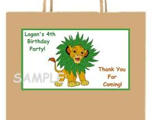 18 Personalized Simba party stickers,labels,lion king,birthday,supplies,favors