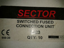 10 X Sector S923 White 13 Amp Switched Fused Spur Connection Unit Square Edge
