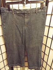 Women's Gap Jeans Capri Cropped Dark Wash Size 8 32 x 20 B19