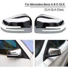 2Pcs Chrome Rearview Mirror Cover For Mercedes Benz A B E GLK CLA GLA Class
