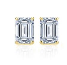 a5e4ad7602e39 Emerald 2.00 - 4.99 Fine Diamond Earrings for sale | eBay