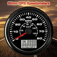 85mm 80MPH 120km/h GPS Speedometer Car Auto Tuning Speed Gauge Digital Odometer
