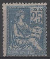 "FRANCE STAMP TIMBRE N° 114 "" MOUCHON 25c BLEU TYPE I 1900"" NEUF xx TB SIGNE K746"