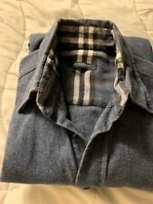 Burberry Mens Shirt Blue Jean Size Small.
