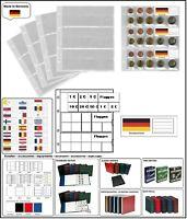5 LOOK 338425 MÜNZHÜLLEN NUMOH EURO NH24 KURSMÜNZENSÄTZE + FLAGGEN DEUTSCHLAND