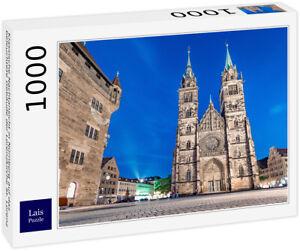 Lais Puzzle - Klassische Nachtansicht in Nürnberg auf das beleuchtete Gebäude...
