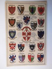 Cambridge University Arms Crests of the Cambridge Colleges Old Postcard A Savage